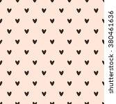 seamless pattern  heart art ... | Shutterstock .eps vector #380461636
