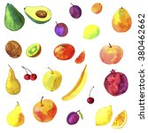 watercolor drawing fruits  hand ... | Shutterstock . vector #380462662