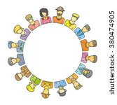 people group form circle shape... | Shutterstock .eps vector #380474905