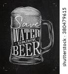 poster glass lettering save... | Shutterstock .eps vector #380479615