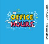 office hours concept. busy... | Shutterstock .eps vector #380492386