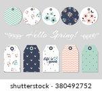 set of spring cards designs.... | Shutterstock .eps vector #380492752