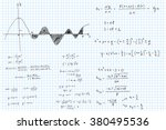 mathematical formulas and... | Shutterstock .eps vector #380495536