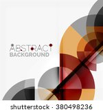 geometric design abstract... | Shutterstock .eps vector #380498236