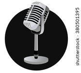 vintage metal studio microphone ... | Shutterstock .eps vector #380501395
