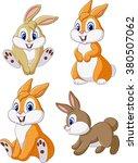cute bunny collection set... | Shutterstock .eps vector #380507062