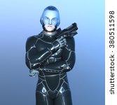3d cg rendering of a super hero | Shutterstock . vector #380511598