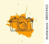 hand drawn vintage photo camera ... | Shutterstock .eps vector #380519422