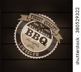 set of barbecue bbq logo  stamp ... | Shutterstock .eps vector #380529322
