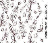 vector seamless pattern with...   Shutterstock .eps vector #380532292