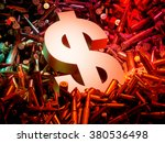 arms trade business concept. 3d ... | Shutterstock . vector #380536498