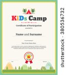 colorful kids certificate... | Shutterstock .eps vector #380536732
