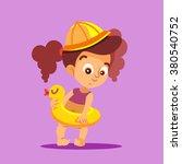 cute cartoon little girl in... | Shutterstock .eps vector #380540752