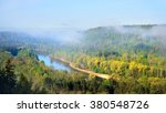 view on gauja valley in spring... | Shutterstock . vector #380548726