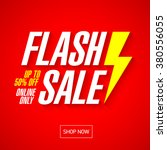 flash sale bright banner or... | Shutterstock .eps vector #380556055