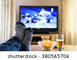 television  tv watching ... | Shutterstock . vector #380565706