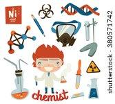 chemist kid set. children...   Shutterstock .eps vector #380571742