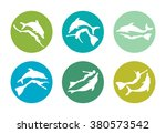 freediving color icons  ... | Shutterstock .eps vector #380573542