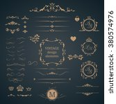 vintage set of decorative... | Shutterstock .eps vector #380574976