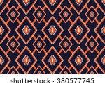 geometric ethnic pattern... | Shutterstock .eps vector #380577745
