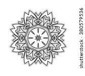 ornate mandala. gothic lace... | Shutterstock . vector #380579536
