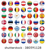 flags of europe complete | Shutterstock .eps vector #380591128