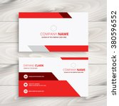 red modern business card | Shutterstock .eps vector #380596552