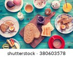 table set for a typical ...   Shutterstock . vector #380603578