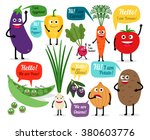 set of colored vegetables for... | Shutterstock .eps vector #380603776