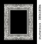 gray picture frame isolated on... | Shutterstock . vector #380618086