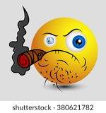 evil mafia smiley | Shutterstock .eps vector #380621782