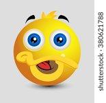 cute funny duck emoji smiley... | Shutterstock .eps vector #380621788