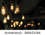 lighting decor. retro light bulb | Shutterstock . vector #380623186