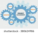 project management  develop ... | Shutterstock .eps vector #380624986