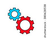 gear icon vector illustration. | Shutterstock .eps vector #380628538