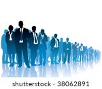 businesspeople are standing and ... | Shutterstock .eps vector #38062891