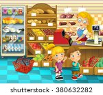 the shop scene with different... | Shutterstock . vector #380632282