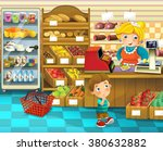 the shop scene with different... | Shutterstock . vector #380632882