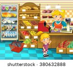 the shop scene with different... | Shutterstock . vector #380632888