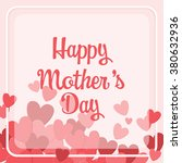 happy mother's day typography... | Shutterstock .eps vector #380632936