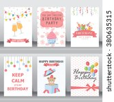 happy birthday  holiday ... | Shutterstock .eps vector #380635315
