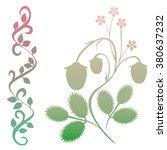 strawberry vector   Shutterstock .eps vector #380637232