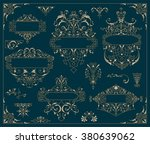 vintage logos and elements.... | Shutterstock .eps vector #380639062