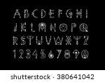sacred geometry font  geometry... | Shutterstock .eps vector #380641042