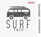 surf trip concept vector summer ... | Shutterstock .eps vector #380654452