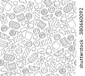 assorted sweets seamless...   Shutterstock .eps vector #380660092