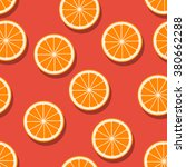 oranges seamless pattern.... | Shutterstock .eps vector #380662288
