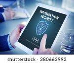 information security online... | Shutterstock . vector #380663992