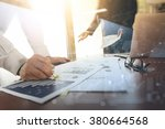 business documents on office... | Shutterstock . vector #380664568