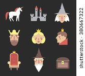 fairy tail icons set. vector...   Shutterstock .eps vector #380667322